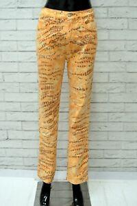 Pantalone-Donna-ROCCOBAROCCO-Taglia-44-Jeans-Pants-Woman-Elastico-Gamba-Dritta