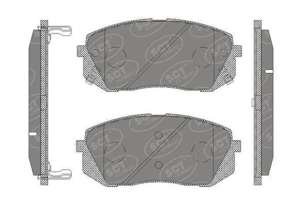 Front Brake Pads Full Axle Braking Set For Hyundai ix35 Kia Carens Kia Sportage