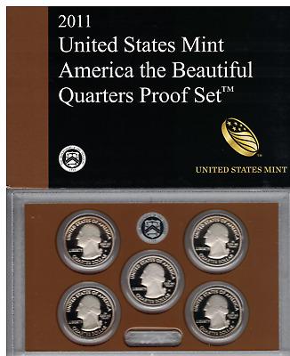 2011 United States Mint America the Beautiful Quarters CLAD PROOF Set