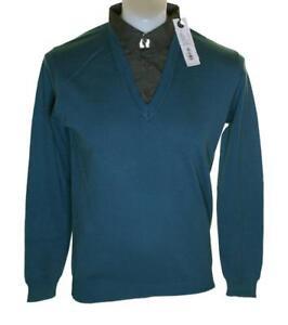 $98 FRENCH CONNECTION FCUK Homme noir M Sweater Top Neuf avec étiquettes