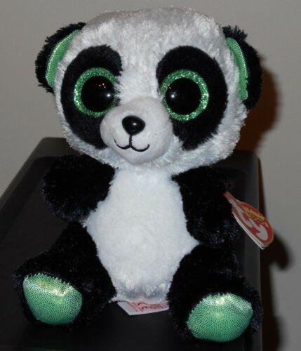 "Ty Beanie Boos YUMI the Panda Bear 6/"" NEW MWMT Justice Exclusive"