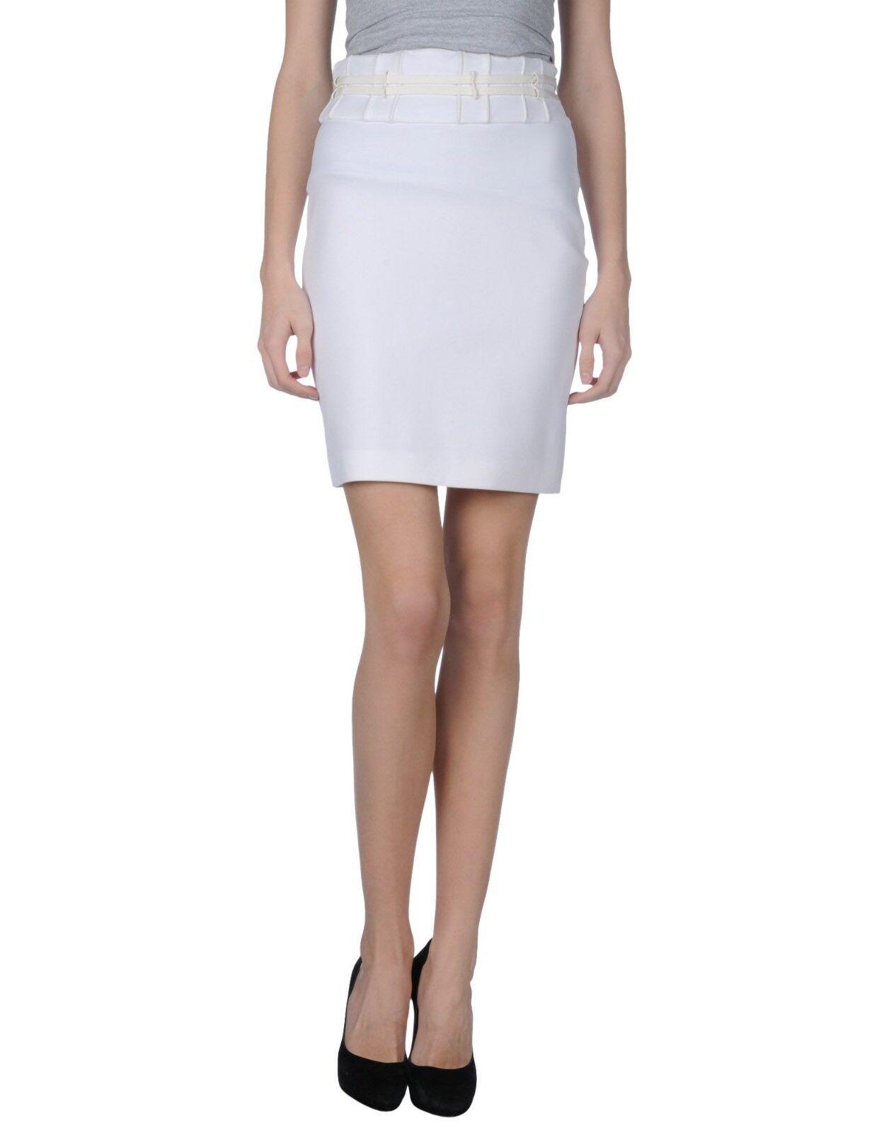 Robert Cavalli Warm White Knee Length Knitted Skirt  - Small