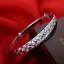 Fashion Women Bridal 925 Plaqué Argent Brillant Star Bangle Cuff Bracelet Bracelet