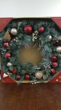 """MEMBER/'S MARK 39/"""" PRE LIT DECORATED WREATH SM435WB RED//GOLD"""