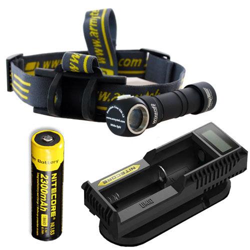 Armytek Wizard Pro V2. XM-L2 Headlamp w  NL183 Battery & UM10 Charger