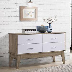Sideboard-Buffet-Cupboard-Unit-4-Drawers-Storage-Cabinet-Dresser-Scandinavian
