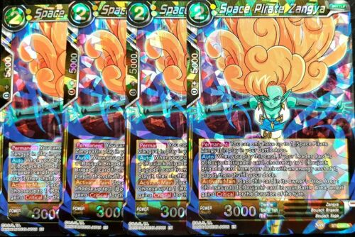 4 x DRAGONBALL R Foil SPACE PIRATE ZANGYA BT6-097 Dragonball