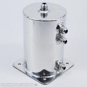 Alloy-1-5-Ltr-Performance-Fuel-Swirl-Pot-Surge-Tank-JIC-AN8-8-Polished-New