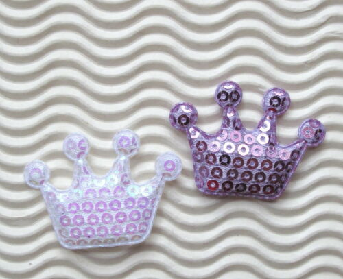30 Crown Hot Pink//Gold//Silver Padded Shinny Applique//Scrapbook//Embellishments