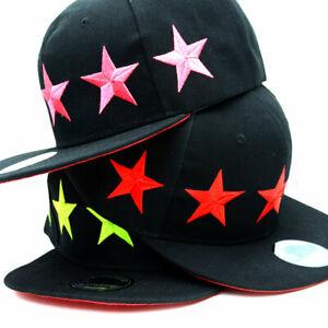 Basecap-Cap-Caps-Snapback-Kappe-Baseball-Muetze-Sterne-Stars-Baseballcap-Unisex