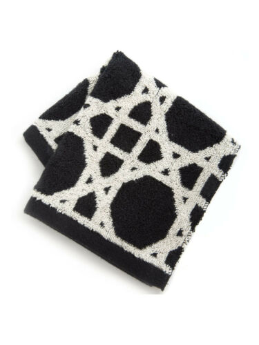 """Mackenzie Childs Black /& White TRELLIS 13/"""" Square WASH CLOTHNEW $8 m19-2"""