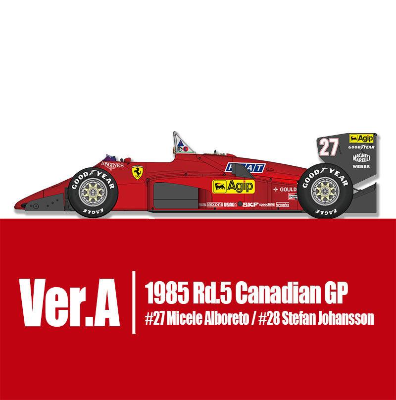 modellllerlerl Factory Hiro K592 1 12 Ferrari 156  85 ver.A 1985 Rd.5 Canadian GP