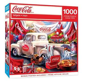 New MasterPieces Coca-Cola Football Tailgate 1000 Piece Puzzle 82118