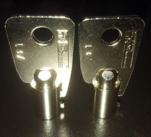 2 New Sentry Safe Keys Code Cut 2001-2100 Tubular Round Ace Key