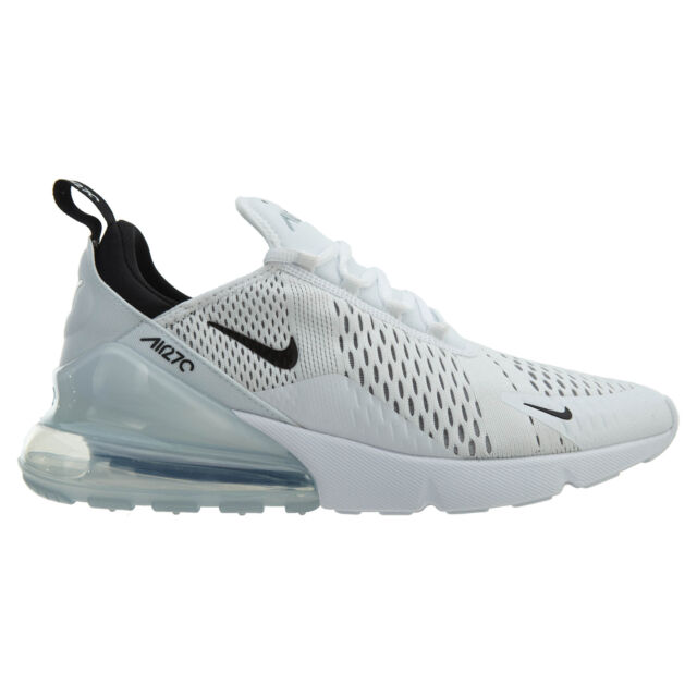 328fcb0ce79d99 Nike Air Max 270 Mens AH8050-100 White Black Mesh Running Shoes Size 8