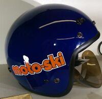 Retro Styled Vintage Moto-ski Snowmobile Helmet