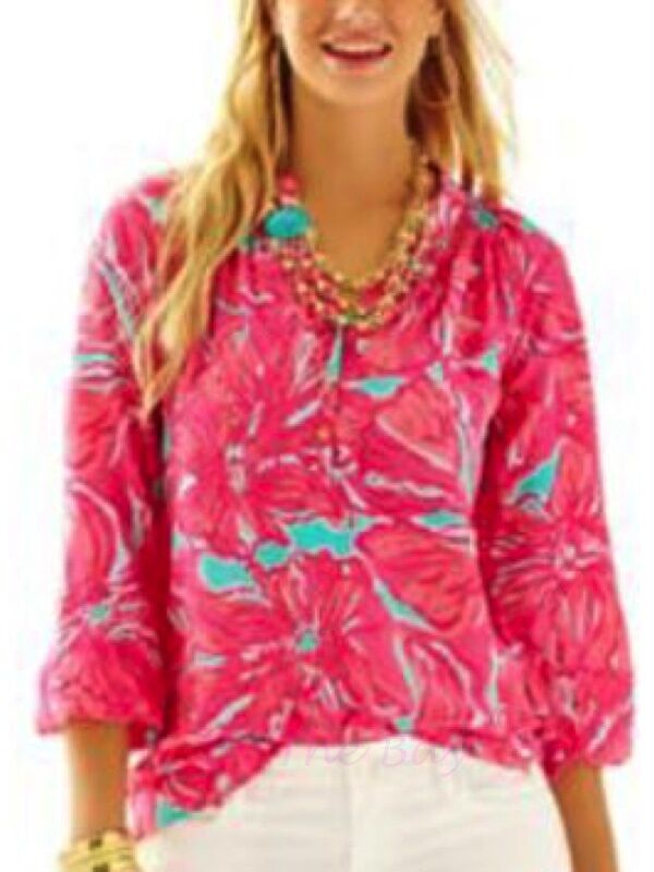 NWT LILLY PULITZER ELSA TOP SEA Blau FLIRTY SEA XXS,XS,S RARE FIND SOLD OUT