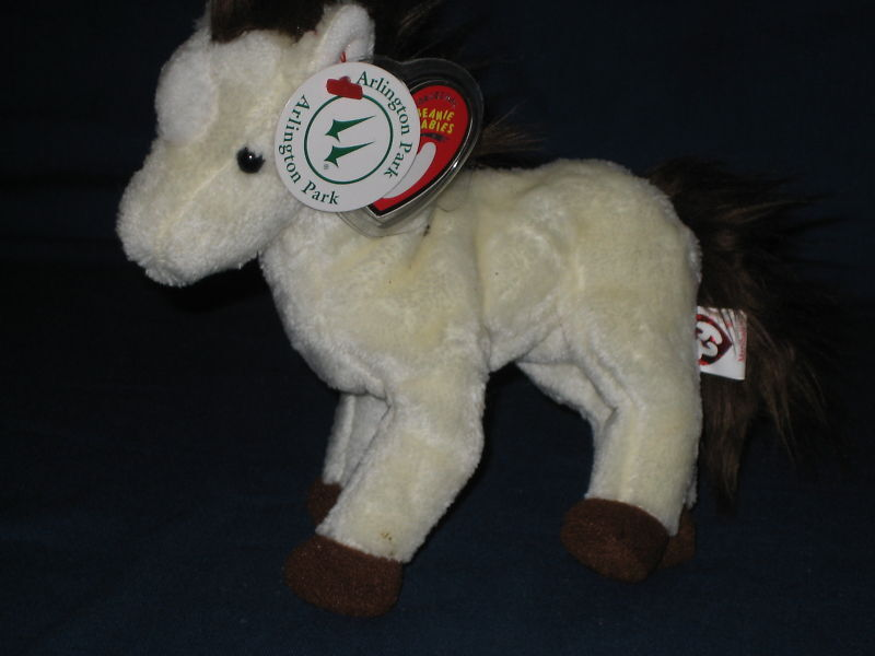 TY MARSHALL the HORSE BEANIE BABY - ARLINGTON PARK SPECIAL TAG