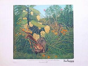 Henri-Rousseau-litho-Tigre-attaquant-un-buffle-art-naif-primitivisme-art