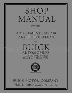 1922 1923 buick shop manual 1918 1919 1920 1921 1924 repair service rh ebay com buick service manual 1953 buick shop manual