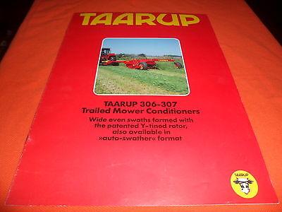 Taarup 725-730 C//CH Universal Rake Hay Straw Brochure Specifications Drawer 9