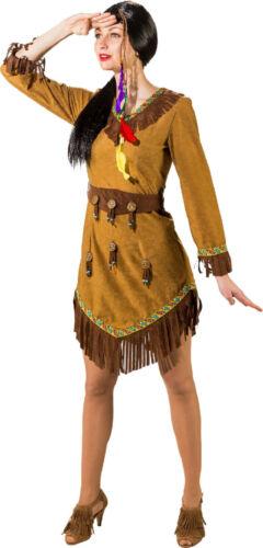 Indianer Indianerin Apache Damen Indianerkostüm Kostüm Kleid Indianerkleid Squaw