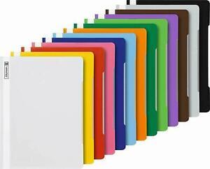 BRUNNEN-13-Schnellhefter-A4-farbig-sort-PP-Folie-glasklares-Deckbl-1020109
