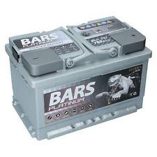 BARS PLATINUM Starterbatterie 12V 80 Ah 780A ersetzt 66Ah 68Ah 70Ah 72Ah 74Ah