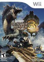 Wii Spiel Monster Hunter Tri 3 Neu