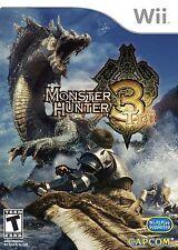 Wii Game Monster Hunter Tri 3 New