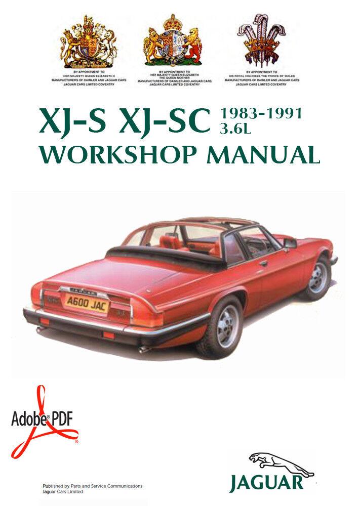 ELEC.WIRING MANUALS 1983-1991 JAGUAR 3.6L XJ-S XJ-SC FACTORY ...
