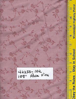"42250-102 TONAL ROSE VINE  LIGHT ROSE 108/"" EXTRA WIDE QUILT BACKING BTY"
