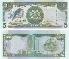 Trinidad & Tobago 5 Dollars 2006 P-47a.1 NEUF UNC Uncirculated Banknote
