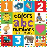 Colors, Abc And Amp; Numbers, Early Learning Letters Board Books Toddlers on sale