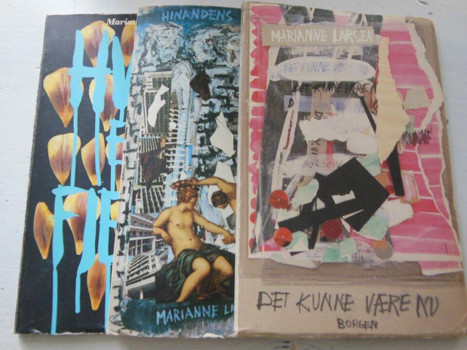 3 styks 1. udgaver , MARIANNE LARSEN, genre: digte