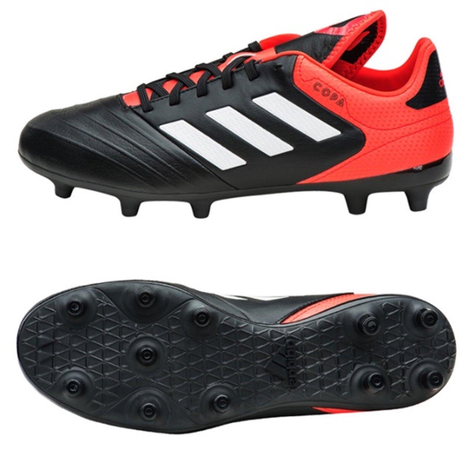 Botines Adidas Hombres Copa 18.3 Fg Fútbol Negro Rojo Zapatos De Fútbol Gimnasio Spike CP8957