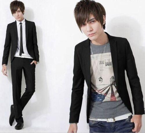 Fashion Men/'s One Button Slim Fit Casual Business Costume Robe Blazer Manteau Veste