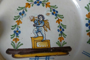 Assiette Nevers Xviii° Ange Au Carquois !