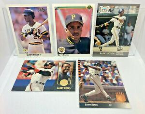 Barry Bonds - 5 Card Lot 1991 Fleer Ultra, Upper Deck SP, Leaf, Select SF Giants