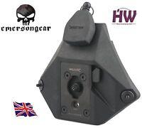 Airsoft Mich Helmet Black Wilcox Style Wendy Vas Shroud + Lanyard Nvg Pvs 15 18