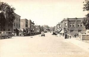 RPPC-SPRING-VALLEY-MN-1935-Street-Scene-Old-Cars-amp-Stores-of-Era-VINTAGE-534
