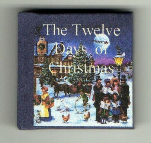 Dollshouse Miniature Book The Twelve Days of Christmas