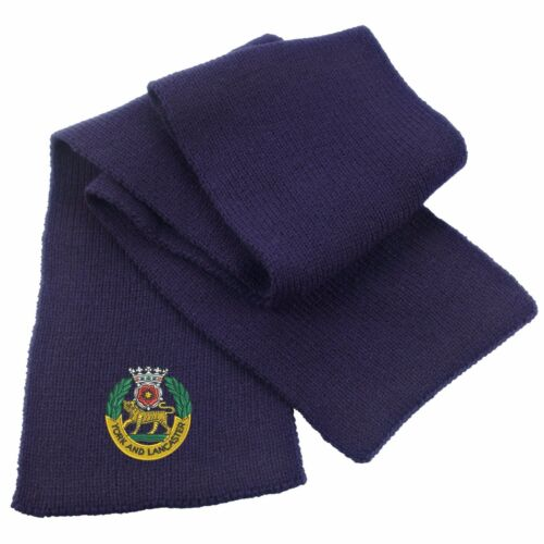 York and Lancaster Regiment Heavy Knit Scarf