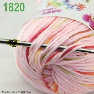 Sale-New-1ballx50g-Soft-Cashmere-Silk-Wool-Baby-Children-Hand-Knitting-Yarn-20