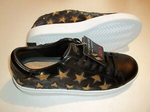 Details about NEW SKECHERS Street Los Angeles Women's Size 7.5 Shoes Black Leather Gold Stars