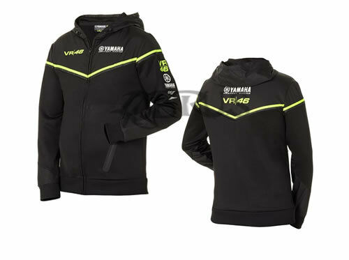 Genuine Yamaha 18 Valentino Rossi VR46 línea negra para hombre con capucha