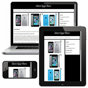 Simple Responsive eBay HTML Listing Template - Mobile Friendly no ...