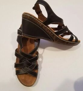 Natural-Soul-By-NATURALIZER-Wedge-Sandals-Size-9M