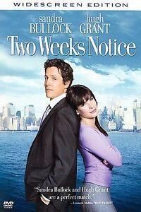 Two Weeks Notice (Snapcase, Widescreen) DVD, Alicia Witt, Robert Klein, Hugh Gra