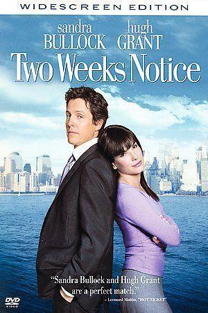Two Weeks Notice DVD, 2003, Widescreen  - $0.79